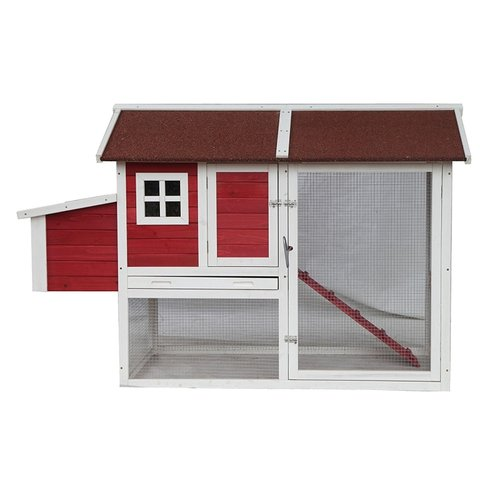 Aleko Barn Style Chicken Coop with Chicken Run