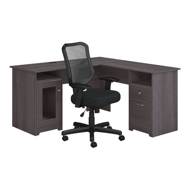 Bush Furniture Cabot - Furniture set - 2-piece (task chair, L-shaped desk)