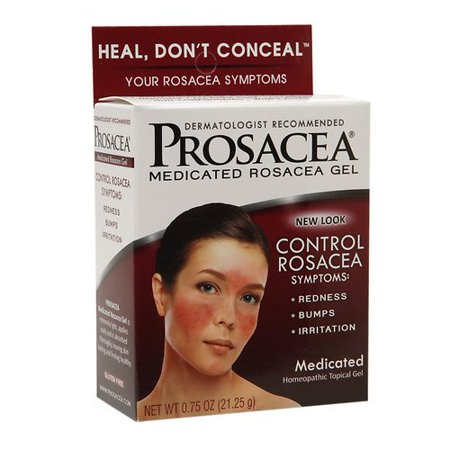 Prosacea Rosacea Treatment Homeopathic Topical Gel 0.75 oz (Pack of