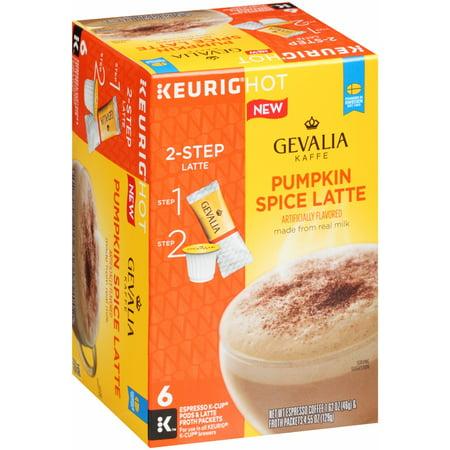 Gevalia Pumpkin Spice Latte Espresso K-Cup Packs & Froth Packets, 6 count, 1.62 Oz