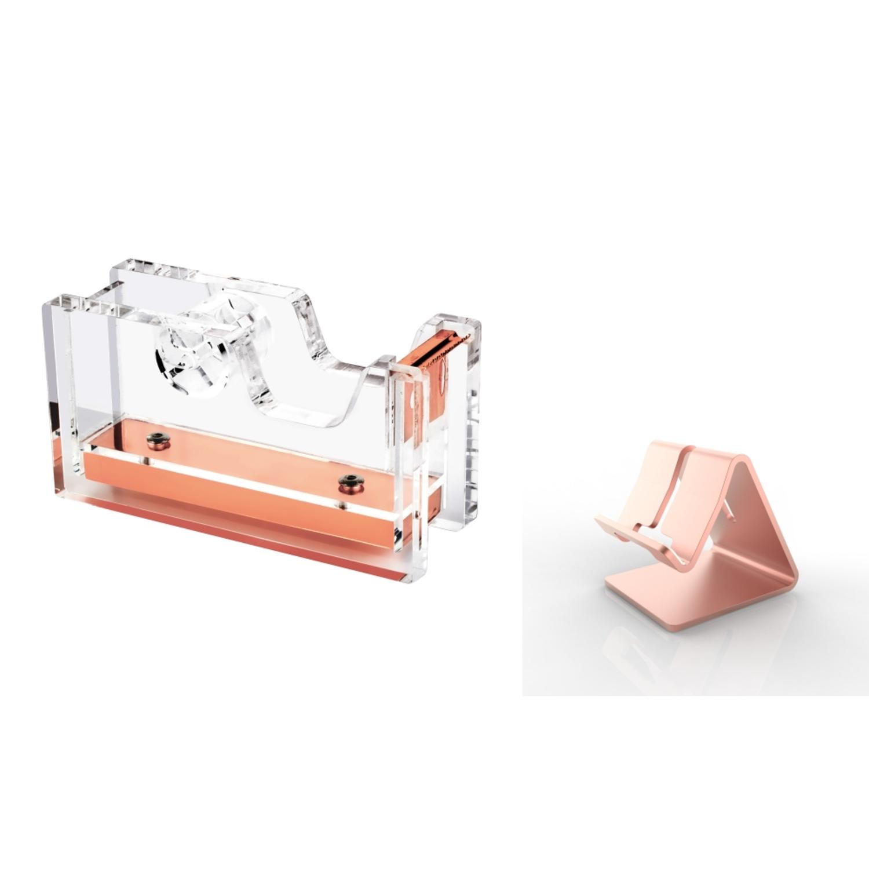 Insten Zodaca Rose Gold Aluminum Alloy Metal Stand Deskto...