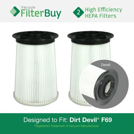 2 Dirt Devil F 69 F69 Hepa Replacement Filters Part