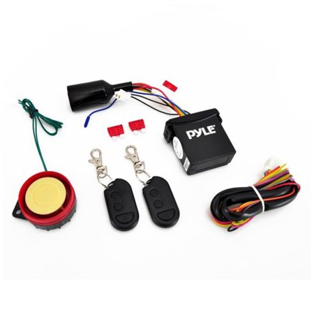 Watch Dog Motorcycle Vehicle Alarm Security System, Includes (2) ECU  Control Transmitters, Anti-Hijack Engine Immobilization, High-Power Piezo  Speaker