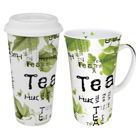 Konitz Tea Collage Mega Coffee To Stay/Go Mugs 2 Piece Set