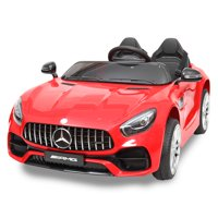 Tobbi Mercedes Benz Licensed 12V Electric Kids Ride On Car with Remote Control 3 Speeds MP3 Lights Red