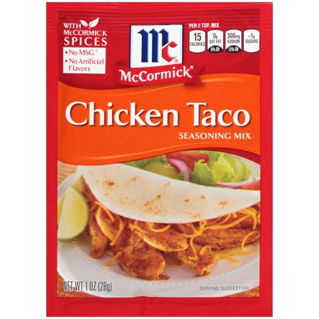 (4 Pack) McCormick Chicken Taco Seasoning Mix, 1 - Chicken Taco