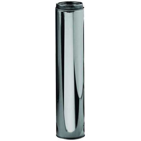 Dual Stainless Pipes - Sure-Temp 206036 Type HT Insulated Chimney Pipe, 6 in x 36 in, Stainless Steel