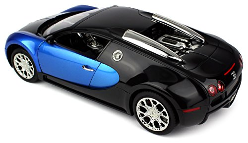 Licensed Bugatti Veyron 16.4 Super Sport Remote Control RC Car Big 1:14  Scale Size W/ Bright LED Lights, Opening Doors, Detailed Construction  (Colors May ...