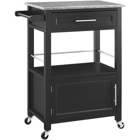 Linon Mitchell Kitchen Cart With Granite Top 36 Inches High Multiple Colors