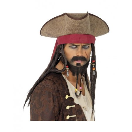 Pirate Costume Ideas For Adults (Pirate Hat with Dreadlocks Adult Costume)