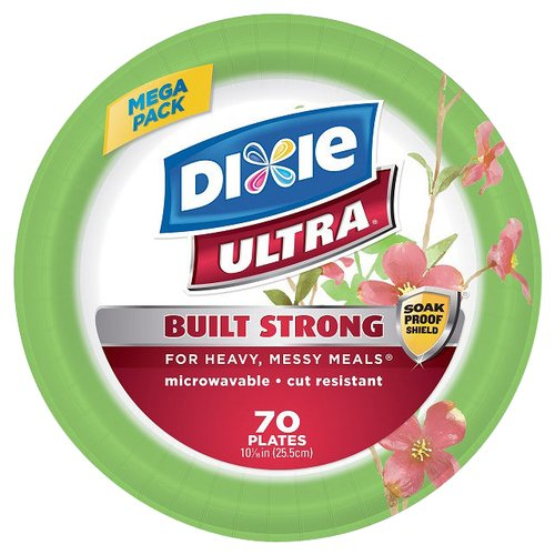 """Dixie Ultra Paper Plates, 10.0625"""", 70 count"""