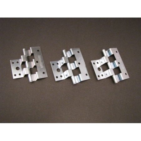Mobile Home Parts. Silver Combination Door Hinges. 3 Per (Backplate Hinge Part)