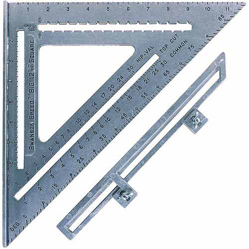 "Swanson Tool S0107 12"" The Big 12 Speed Square With Layout Bar by Swanson Tools"