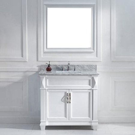 Virtu usa victoria 36 inch italian carrara white marble Virtu usa caroline 36 inch single sink bathroom vanity set