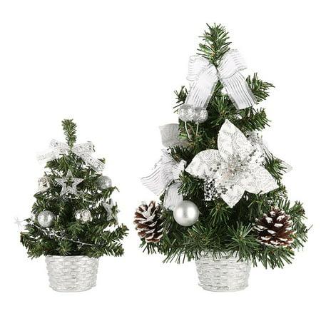 Christmas Party Ornament Mini Tree Decors Desk Table Festival Xmas Decoration ()