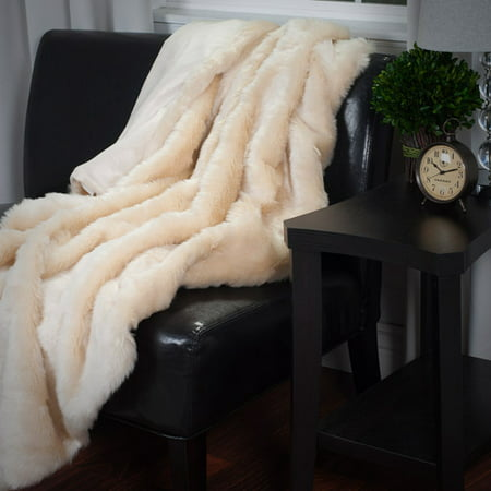 Somerset Home Luxury Long Haired Faux Fur Throw ()