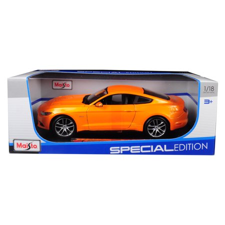 2015 Ford Mustang GT 5.0 Metallic Orange Special Edition 1/18 Diecast Model Car by Maisto
