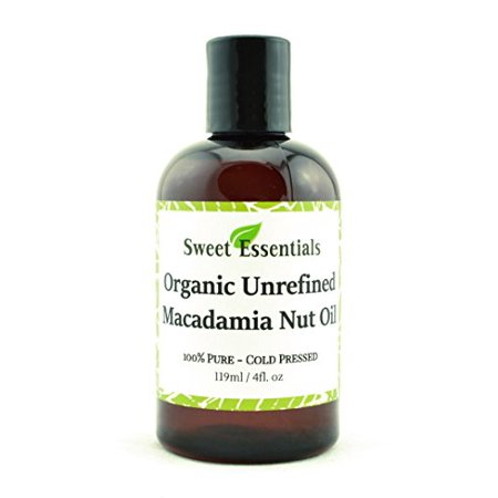 100% Pure Cold Pressed Organic Virgin / Unrefined Macadamia Nut Oil - 4oz - Imported From Italy - Offers Relief From Dry & Cracked Skin, Eczema, Baby Eczema, Psoriasis, Dermatitis, Rosacea & All (Best Oil For Psoriasis)