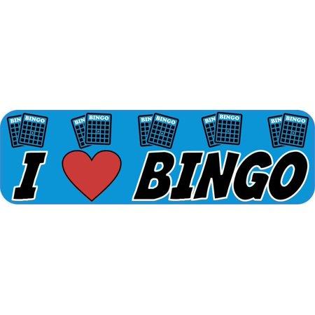 StickerTalk® Brand 10in x 3in I Love Bingo Heart Magnet Magnetic Vehicle - Heart Bingo