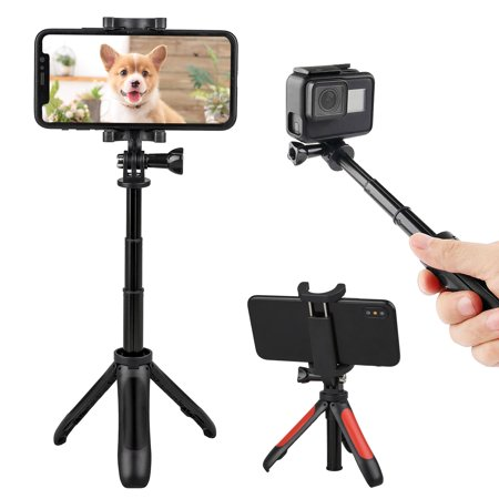 Phone Tripod, EEEKit Extendable Handheld Desk Selfie Stick With Monopod Stand Tripod for iPhone XS/XR/XS Max/X/8/8P, Samsung Galaxy Note 9/8/S10/S10E/S9/S9+, More