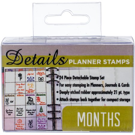 Contact Crafts Planner Stamps 24/Pkg-Months - image 1 of 1