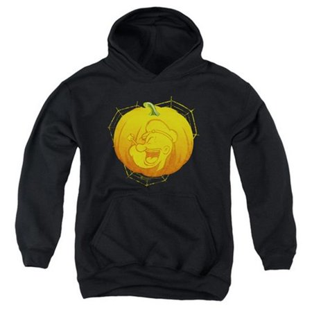 Popeye-Pop O Lantern Youth Pull-Over Hoodie, Black - Medium - image 1 de 1