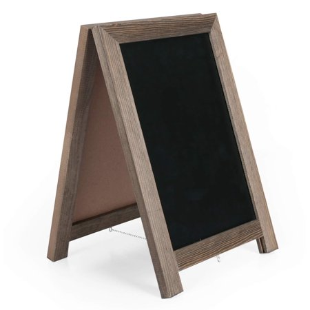 Chalk Board Menu (Ilyapa Magnetic Tabletop Chalkboard Sign - 10x14 Wooden A-Frame Standing Sandwich Board Menu Display -)
