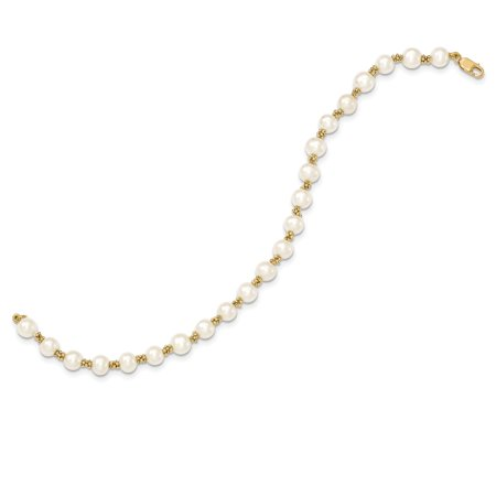 14K Yellow Gold FW Cultured Pearl Bracelet - image 2 of 3