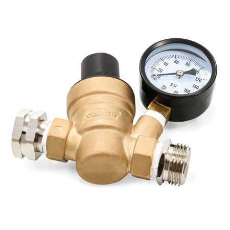 Watts Water Pressure Regulator (Camco 40058 Adjustable Water Pressure Regulator - Lead-Free Bilingual Brass )