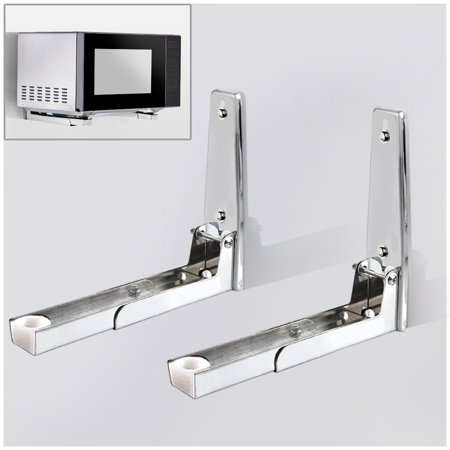 304 Stainless Steel Microwave Oven Wall Mount Bracket Retractable Stand Shelf Rack