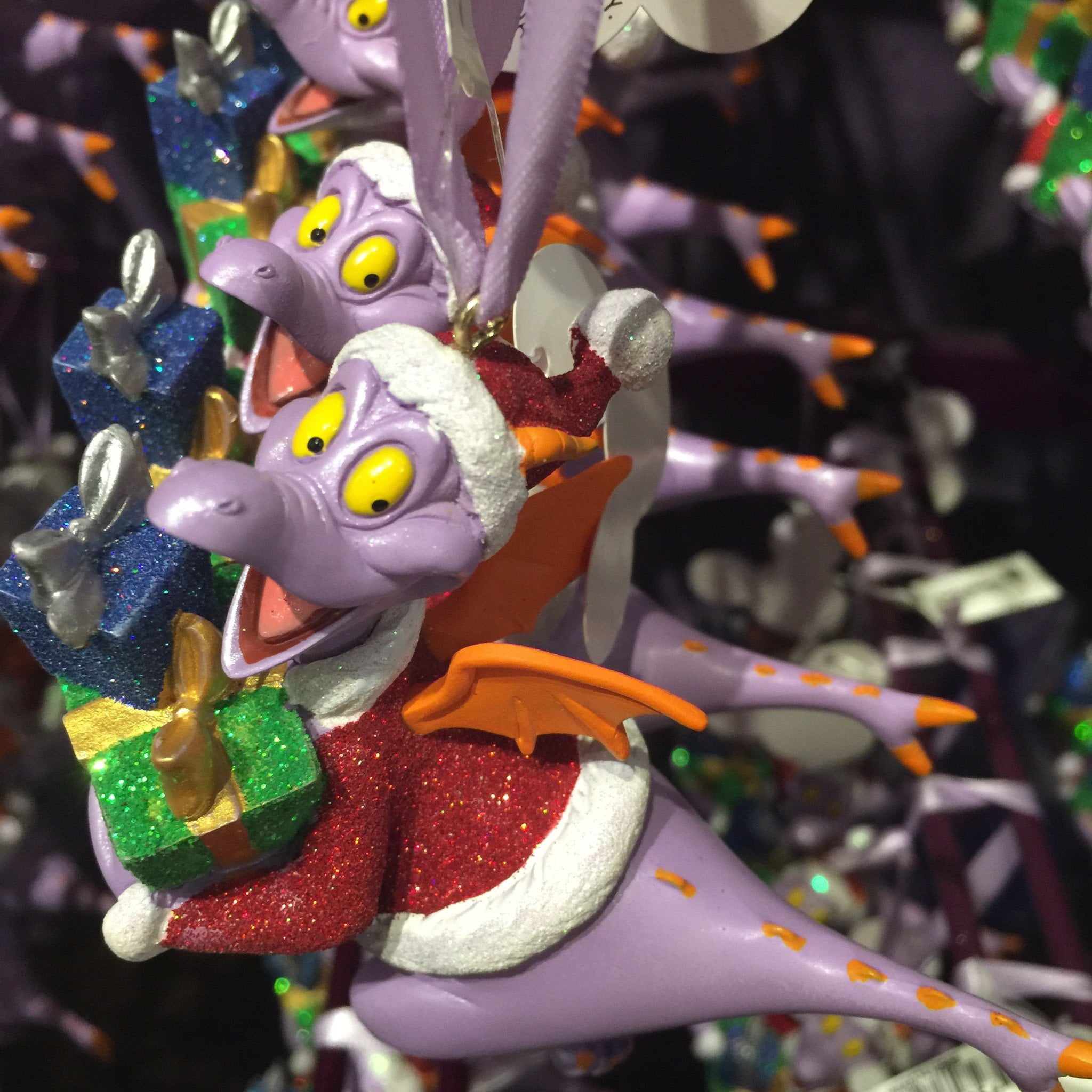 New Epcot Holiday Festival Figment Card w//DIY Ornament Pack contains 4 Cards