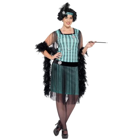 Women's Plus Size 1920s Mint Coco Flapper Costume - 1920s Prohibition Costume