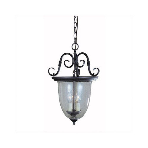 World Imports Sophisticated Detail Smoke Bell 3 Light Outdoor Hanging Lantern