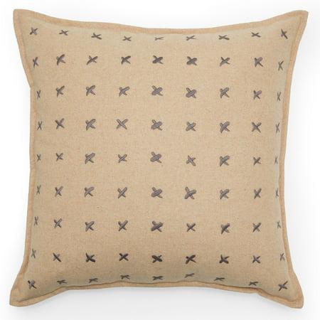 MoDRN Industrial Pick Stitch Decorative Throw Pillow, 20