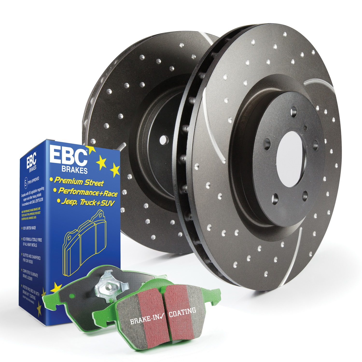 EBC Brakes S3KR1112 S3 Kits Greenstuff 6000 and GD Rotors Truck and SUV