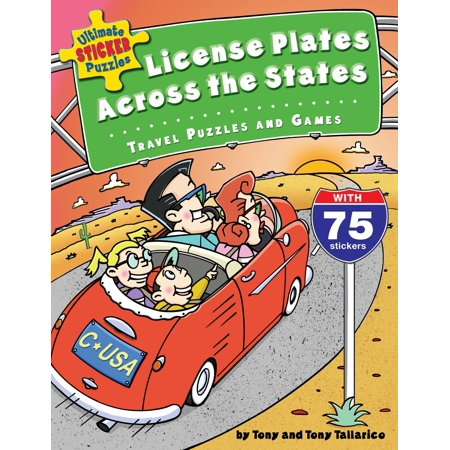Ultimate Sticker Puzzles: License Plates Across the States: Travel Puzzles and Games [With 75 Stickers] (Paperback)