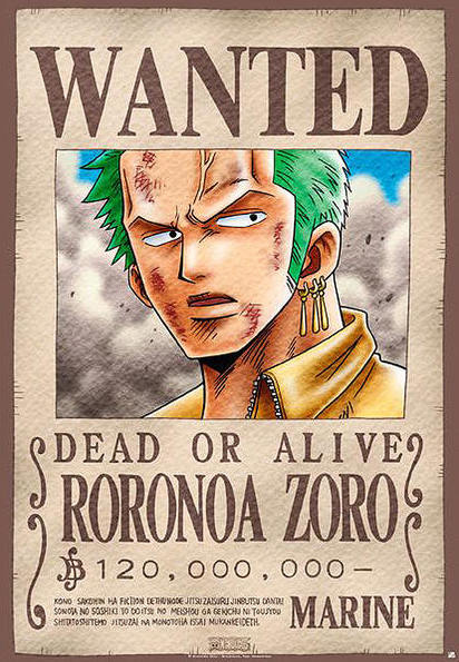 One Piece - Manga / Anime TV Show Poster / Print (Wanted ...
