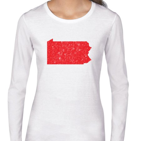 Pennsylvania Red Republican   Election Silhouette Womens Long Sleeve T Shirt