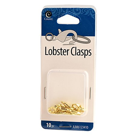 Cousin Gold Lobster Clasps, 10