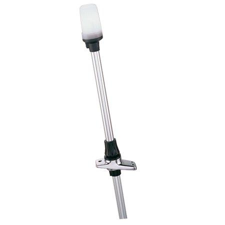 Perko Flagpole Socket (Perko 1611DP2CHR White All-Round Pole Light & Base with Telescoping-Type Pole - 24 )