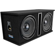 Seismic Audio - OutRage122 - Dual 12 Inch 2400 Watt Car Audio Subwoofer Box Enclosure with Rear Vent