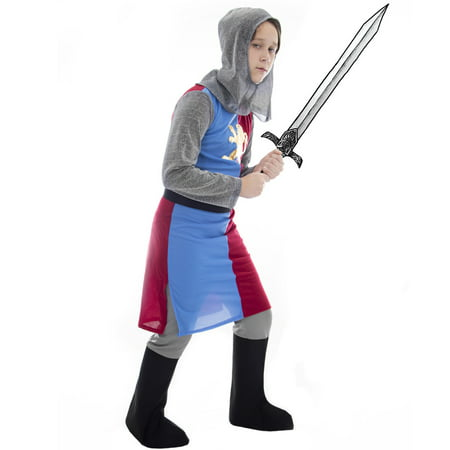 Boo! Inc. Noble Knight Children's Dress Up & Halloween Costume | Heroic Medieval Armor - Mideval Dress