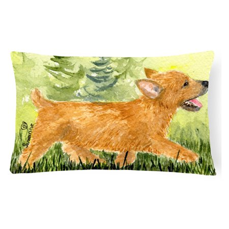 norwich terrier decorative canvas fabric pillow