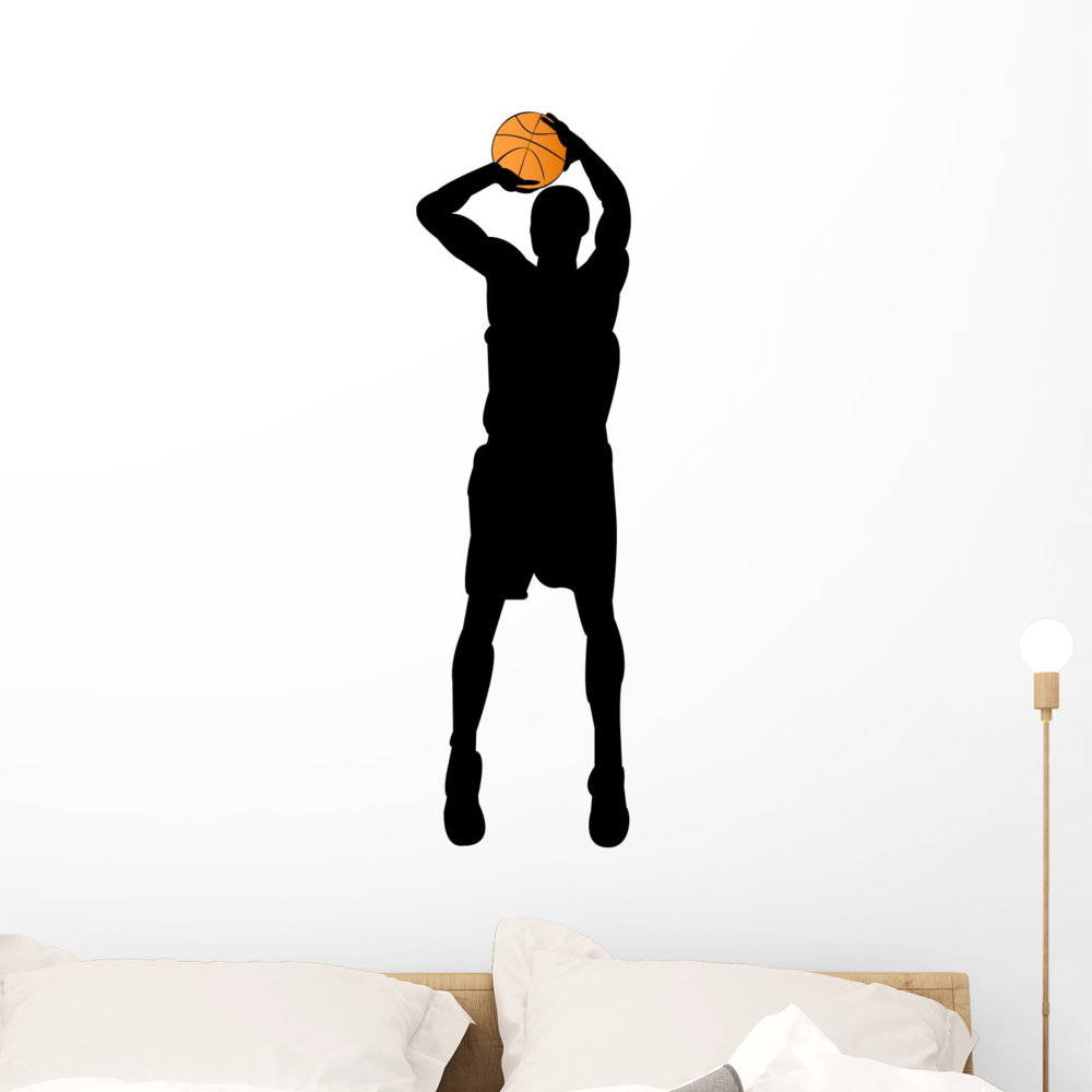 15c1654b0c9a Basketball Player Silhouette Wall Decal by Wallmonkeys Peel and Stick  Graphic (12 in H x 4 in W) WM176256 - Walmart.com