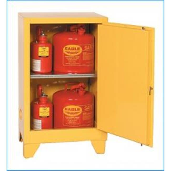 Eagle 1924Legs Tower Cabinets Yellow Only One Door Self-Close With 4 In. Legs One Shelf