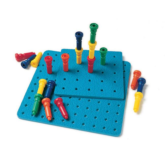 LAURI LR-2444 TALL-STACKER PEGS & PEGBOARD-25 PEGS 8 25-HOLE BOARD