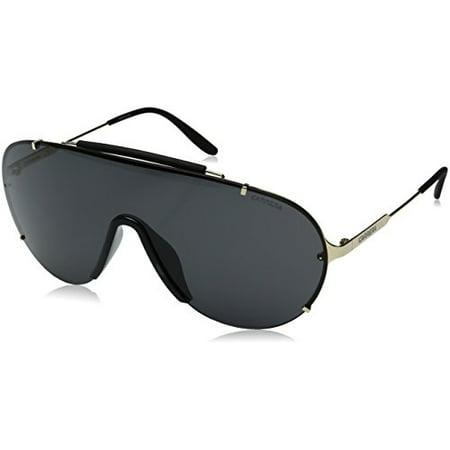 Carrera Men's Ca129s Shield Sunglasses, Gold/Gray, 99 mm