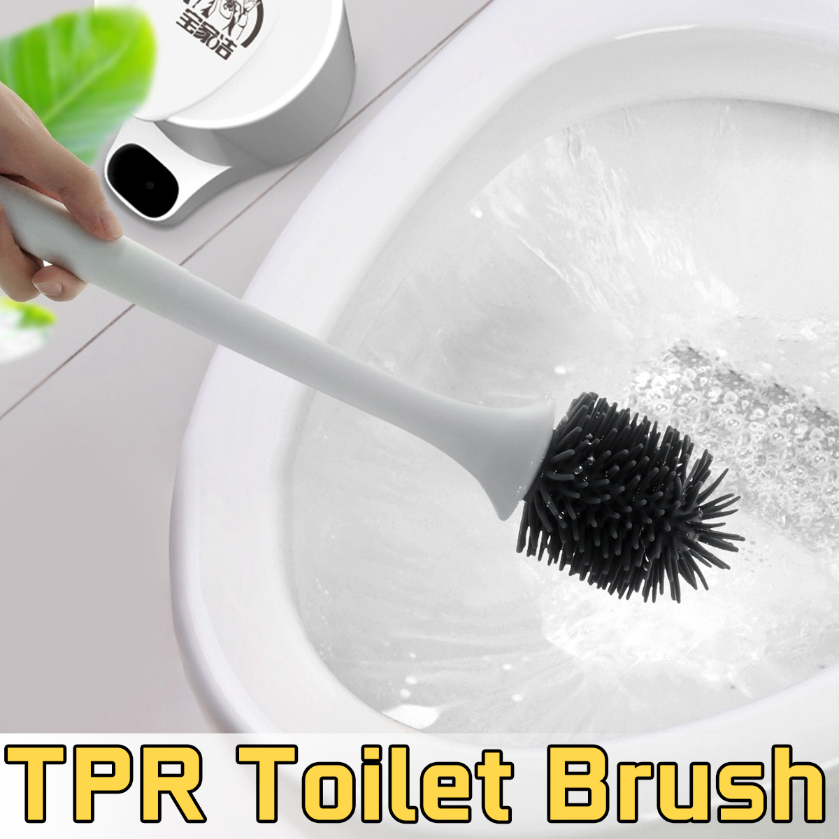 Bathroom Toilet Cleaning Brush with  Bristle Wall Mounted Floor Standing