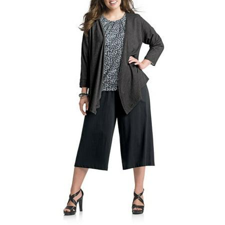 bb09213fc64 Just My Size - Women s Plus-Size Knit Gauchos - Walmart.com