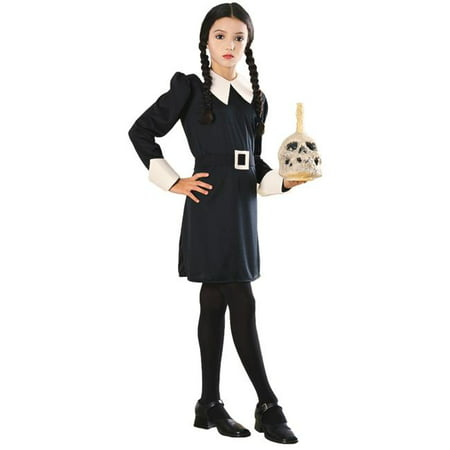 Addams Fam Wednesday Child Costume, Medium - Wednesday Adams Family Costume